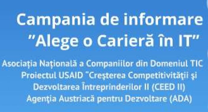 """52 de licee din Moldova vor participa în cadrul Campaniei de informare """"Alege o Carieră în IT"""""""