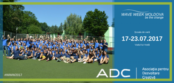 """Școala de vară """"Wave Week Moldova"""" 2017: Program care te va ajuta să faci schimbare în comunitatea ta"""