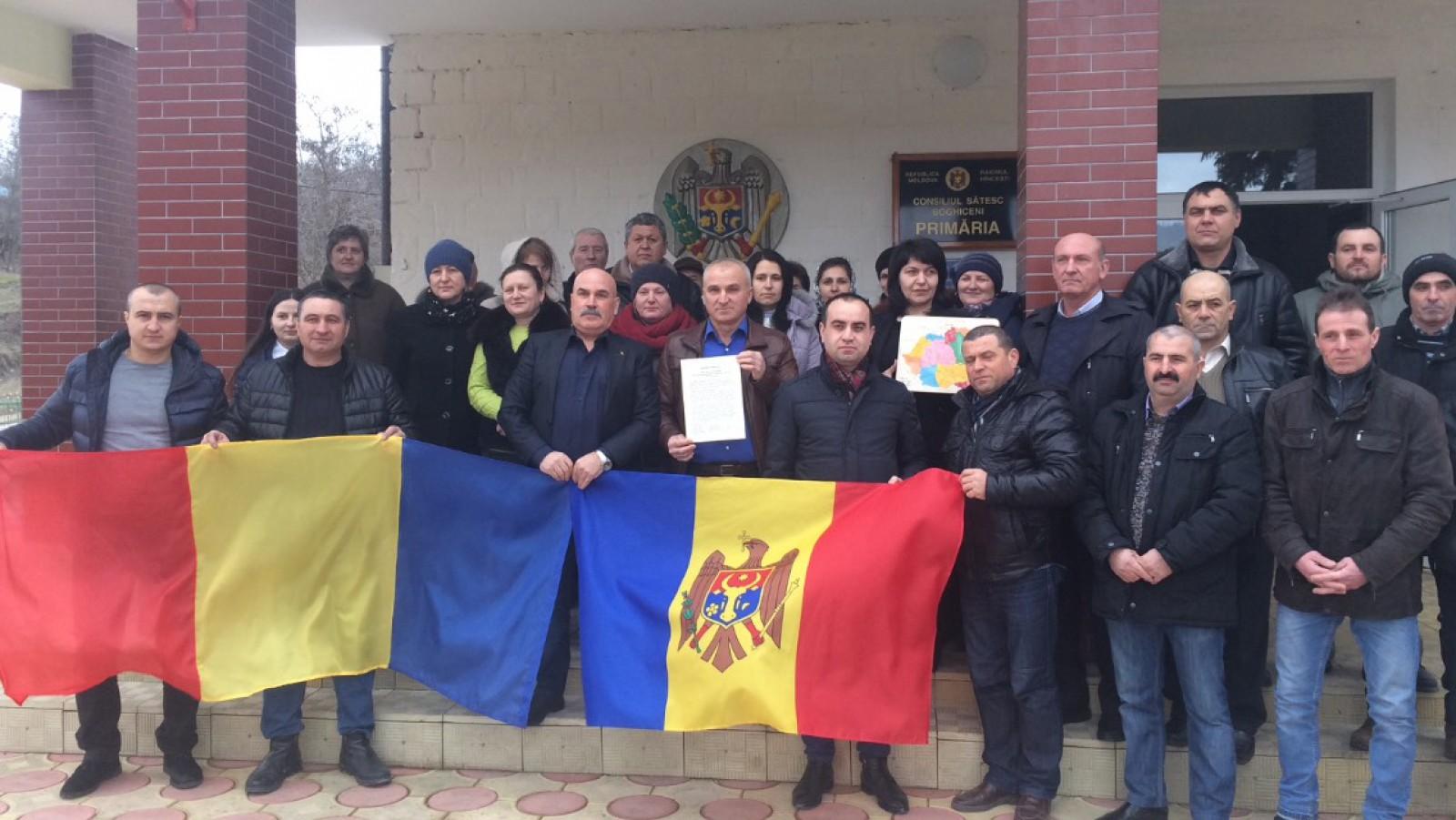 A 14-a localitate din Republica Moldova a semnat Declarația de Unire cu România