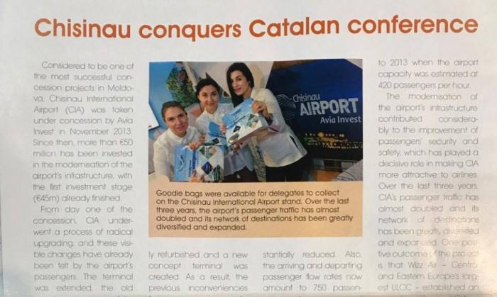 Aeroportul Chișinău cucerește conferința din Catalonia