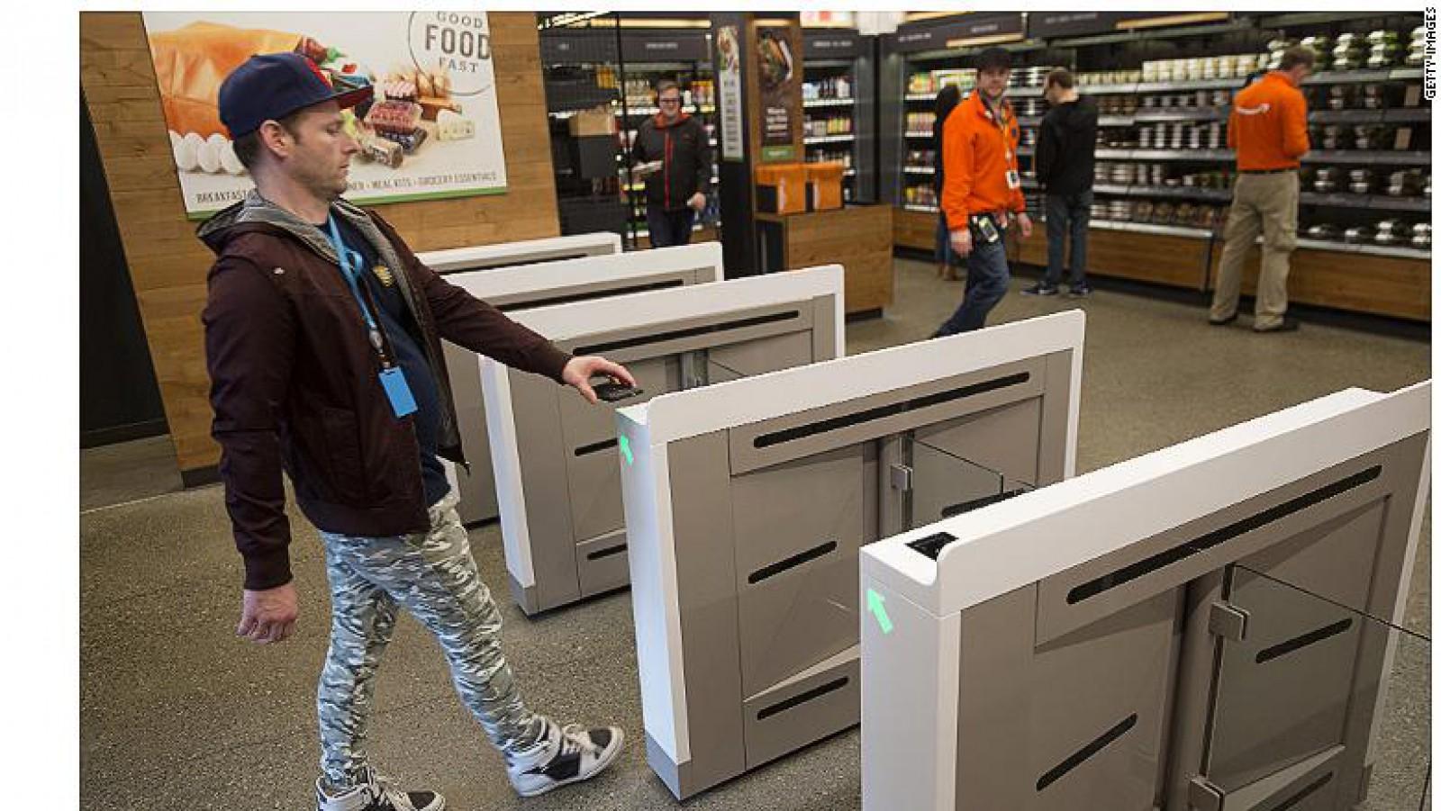 Amazon a deschis primul magazin care operează fără aparate de casă sau vânzători