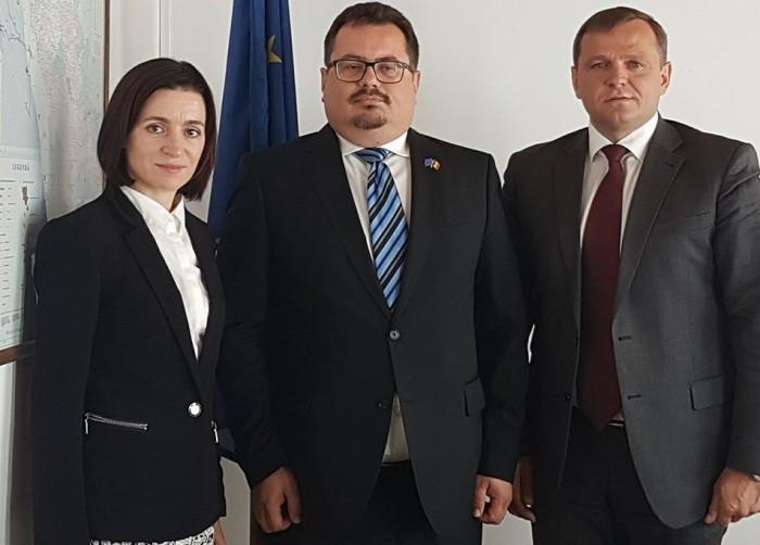 Andrei Năstase și Maia Sandu s-au întâlnit cu noul ambasador al UE în Republica Moldova
