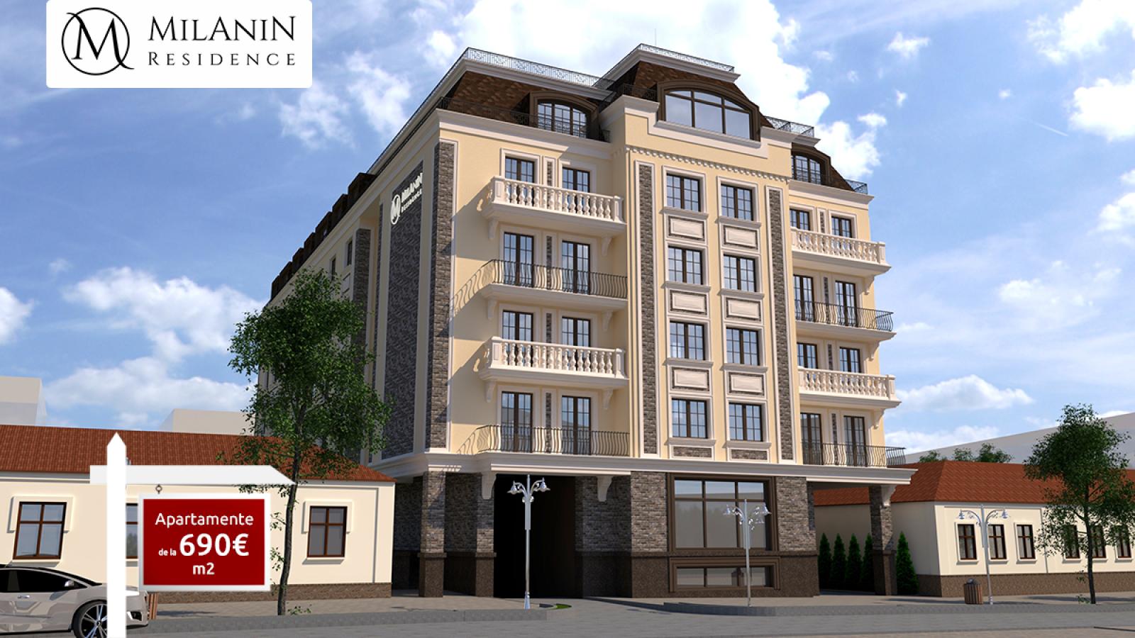 Apartamente în Complexul Milanin Residence de la 690€/m2