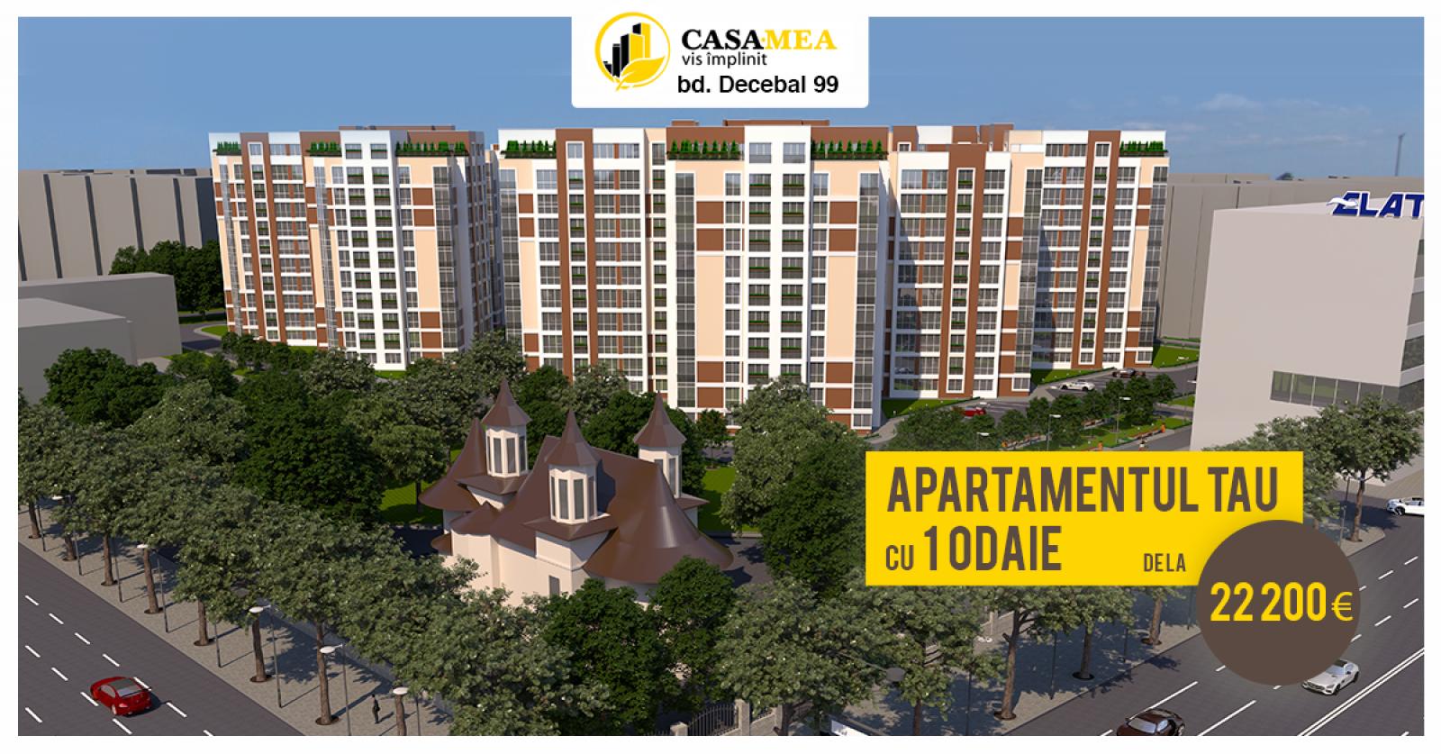 Apartamente lângă centrul comercial ELAT de la 22.200€