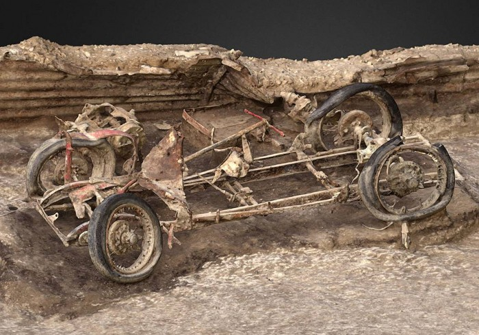 Arheologii au descoperit un sportcar de pe timpurile celui de al Doilea Război Mondial