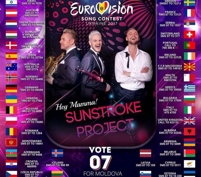 Trupa SunStroke Project pe locul II printre favoriți. Cetățenii aflați peste hotare, votați Nr. 7!