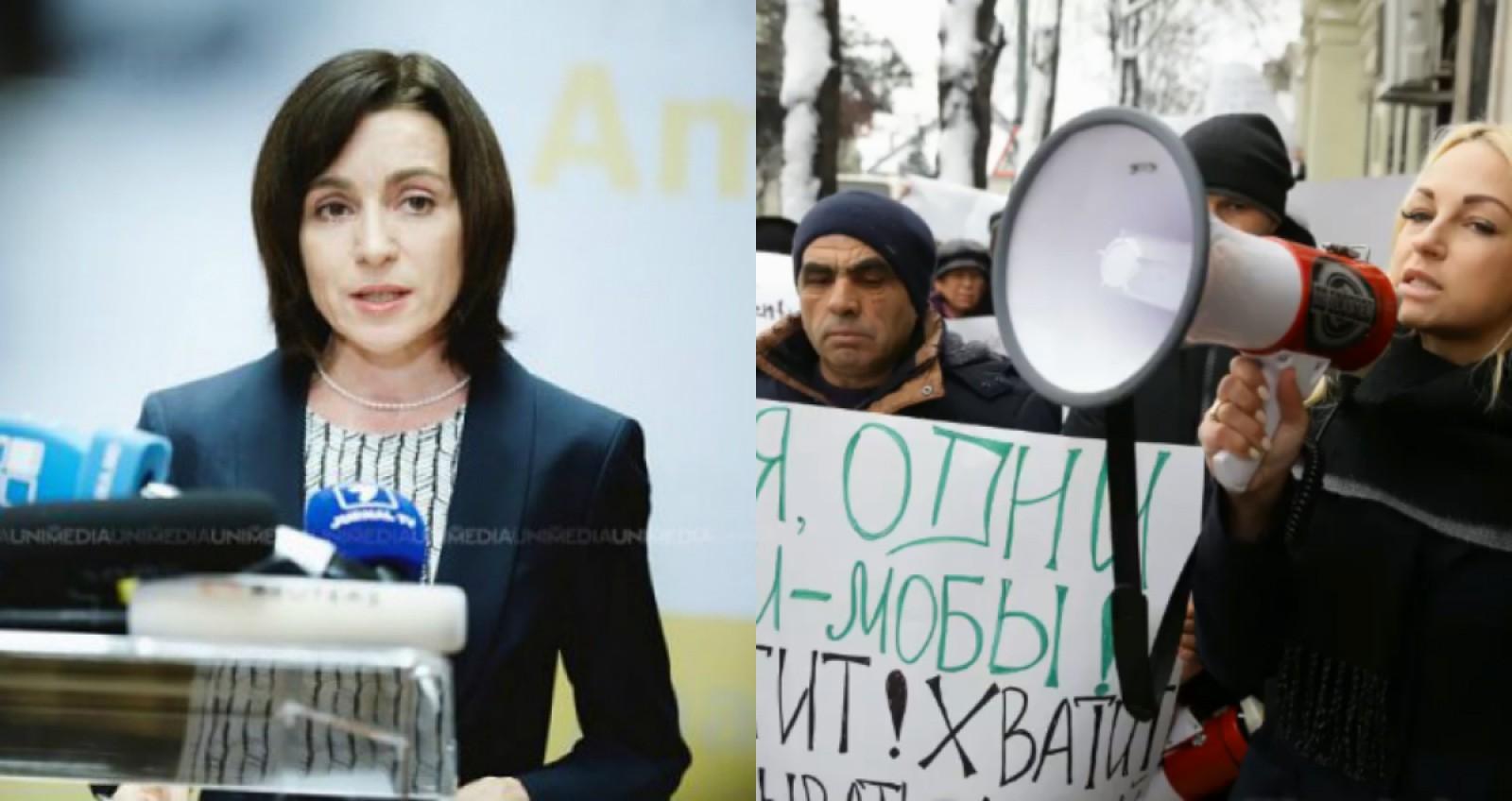 """(audio) Câte 600 de lei ar fi primit """"simpatizanții"""" lui Șor pentru a protesta la sediul PAS. Maia Sandu: """"Nu ne vom opri în a cere justiție pentru toți"""""""