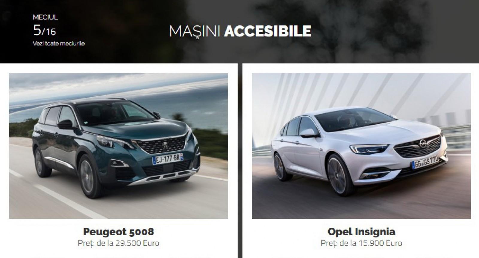 AUTOVOT MOLDOVA 2018! Duelul de astăzi: Peugeot 5008 vs Opel Insignia!