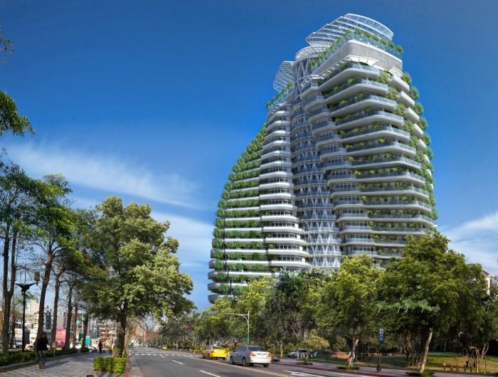 Clădirea din Taiwan care va avea la fel de mulți copaci cât Central Park din New York