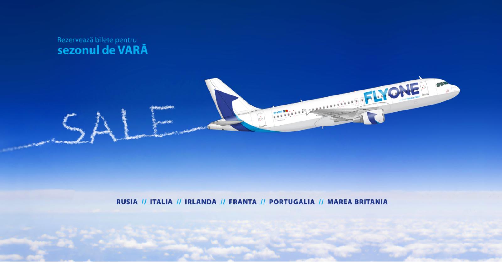 Compania Fly One a început vânzarea biletelor de avion pentru perioada de vară
