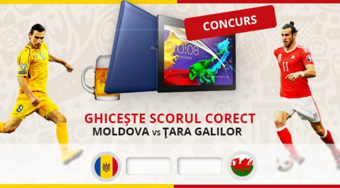 CONCURS: Câștigă o Tabletă Lenovo. Ghicește doar scorul la meciul Moldova vs. Țara Galilor
