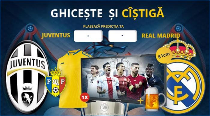 (concurs) Finala dintre Juventus Torino și Real Madrid iți aduce premii importante!