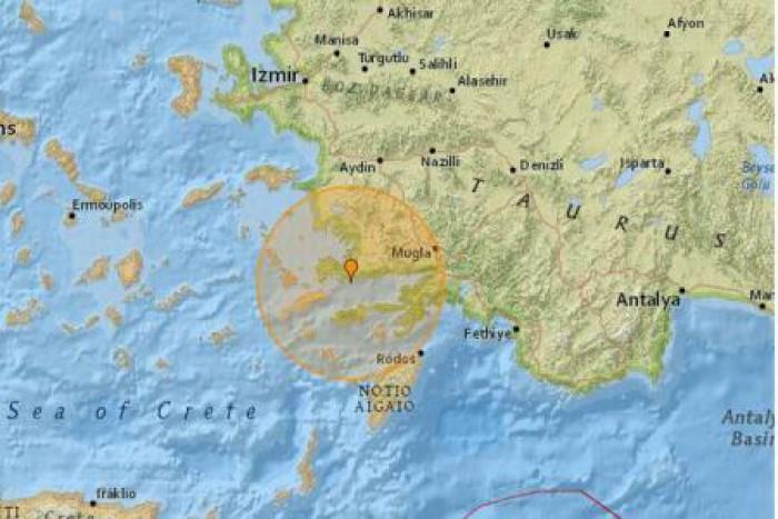 Cutremur cu magnitudinea 5,3 în apropierea stațiunii turce Bodrum