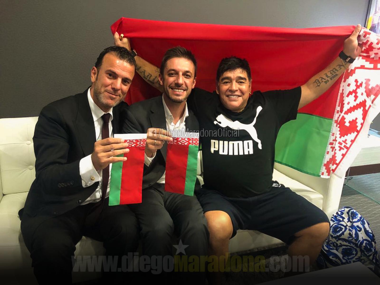 Diego Maradona a ajuns în Belarus! Legenda fotbalului argentinian a devenit președintele echipei Dinamo Brest