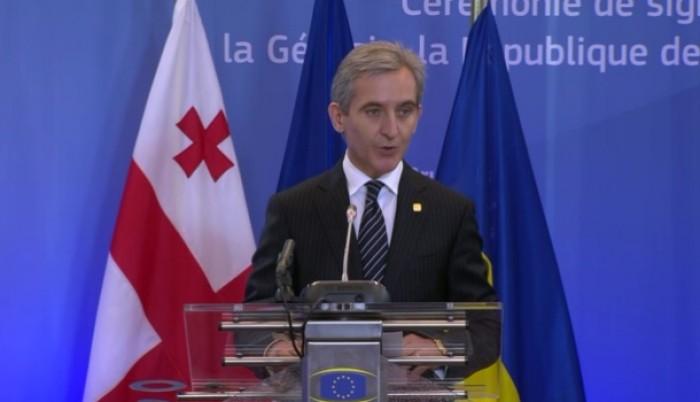 (video)Discursul lui Leancă la Bruxelles: Vă promit că vom merge până la capăt pe acest drum şi că vom reveni acasă, în Europa!
