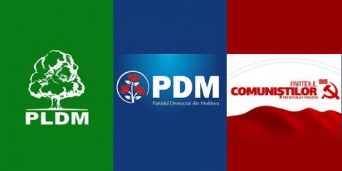 Discuții între PD, PCRM și PLDM. Ce declarații au făcut reprezentanții partidelor