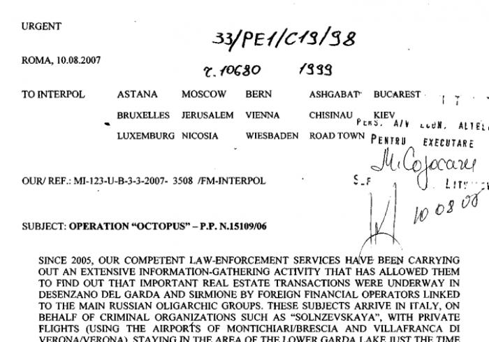 (doc) Ministrul de Interne confirmă că Plahotniuc figurează în documente Interpol