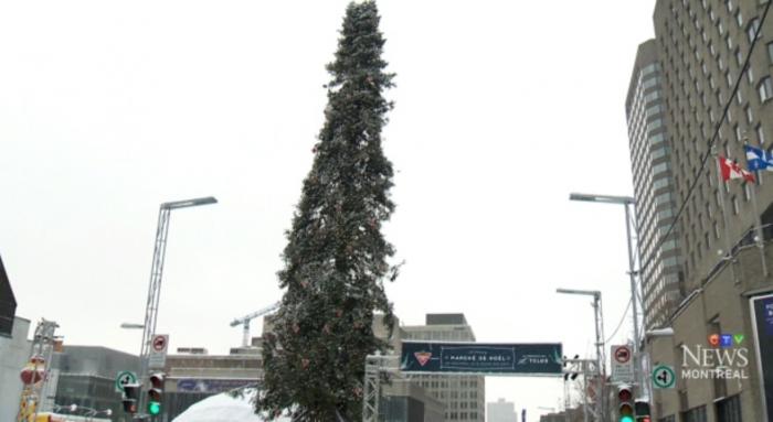 (foto) Drama bradului de Crăciun, la case mai mari: Pomul din Montreal de anul trecut, demontat, pentru că nu a fost pe măsura așteptărilor