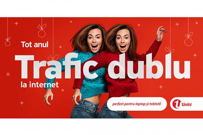 Dublu trafic Internet mobil tot anul cu abonamentele Internet Nelimitat de la Unite