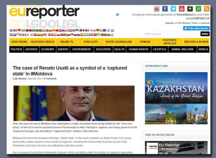 """Eureporter: Cauza lui Renato Usatîi ca simbol al """"statului capturat"""" în #Moldova"""