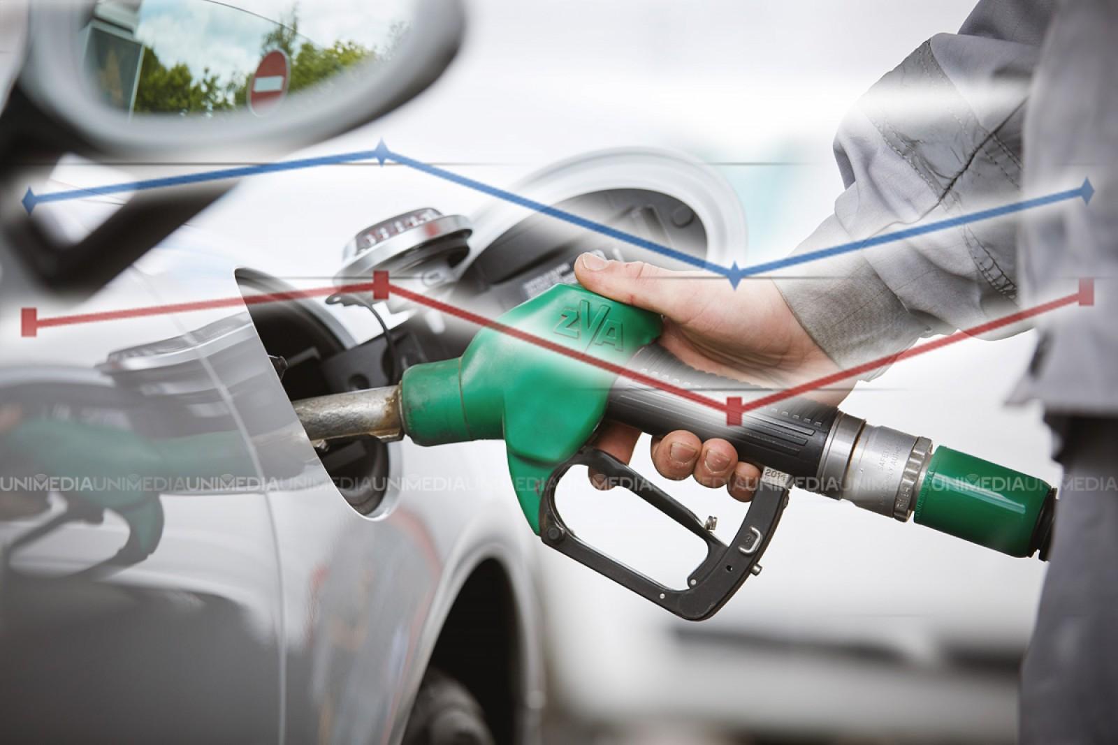 Evoluția prețurilor la benzină și motorină în anul 2017. Când au fost înregistrate cele mai mari prețuri