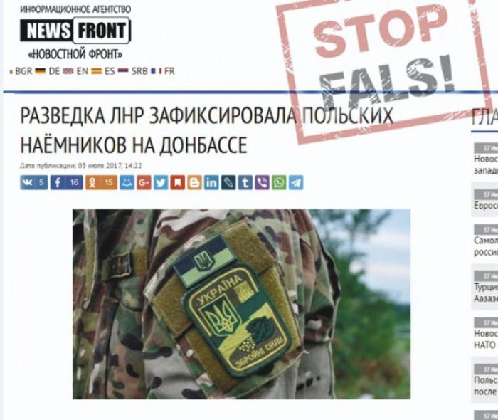 Fals: În Donbas luptă soldați polonezi