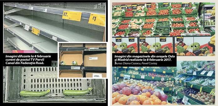 Fals: Supermaketurile din Europa se confruntă cu un deficit de legume