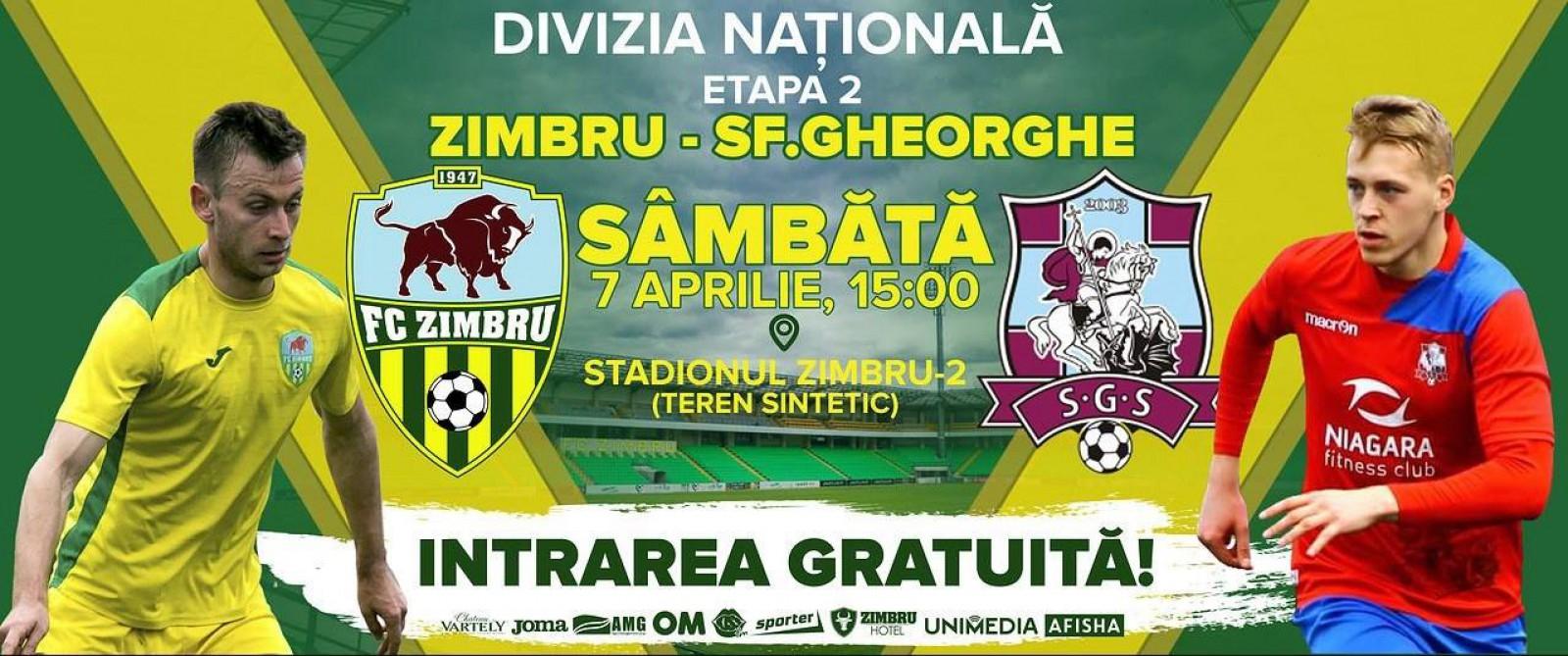 FC Zimbru - FC Sfîntul Gheorghe Suruceni: Galben-verzii sunt în așteptarea primei victorii din acest sezon a Diviziei Naționale