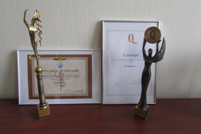 FinComBank - deținătoarea premiului Mercuriul de Aur 2016