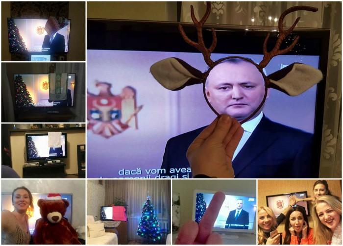 (foto) Flash-Mob inedit pe Facebook: Cum a fost privit discursul președintelui Igor Dodon