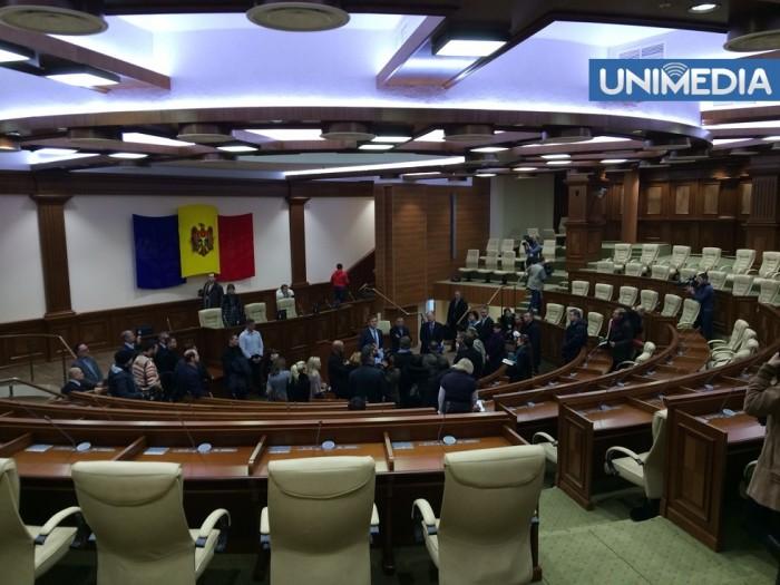 (foto, video) Imagini cu interiorul restaurat al clădirii Parlamentului