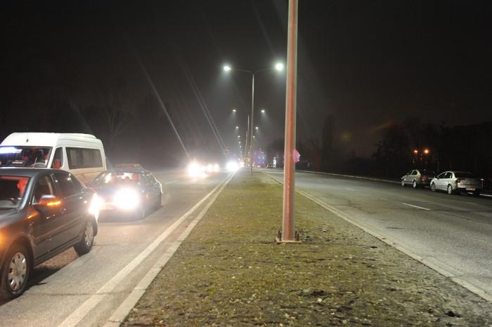 (foto) A fost inaugurat iluminatul stradal  pe porţiunea Porţile Oraşului - Aeroportul Internaţional Chişinău