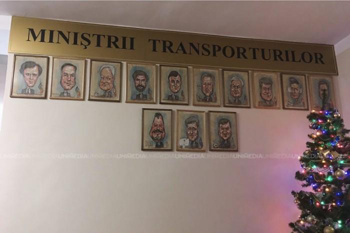 Galerie foto inedită la Ministerul Transporturilor. Imaginile cu foștii și actualul ministru ceva mai altfel