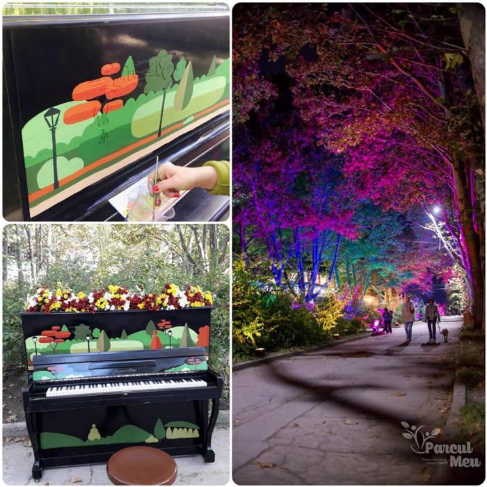 (foto) Aleea Colorată din parcul Valea Trandafirilor prinde viață: A fost instalat un pian multicolor