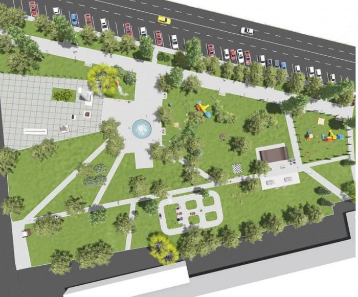 (foto) Cum va arăta parcul din Căușeni. Primăria a publicat mai multe imagini