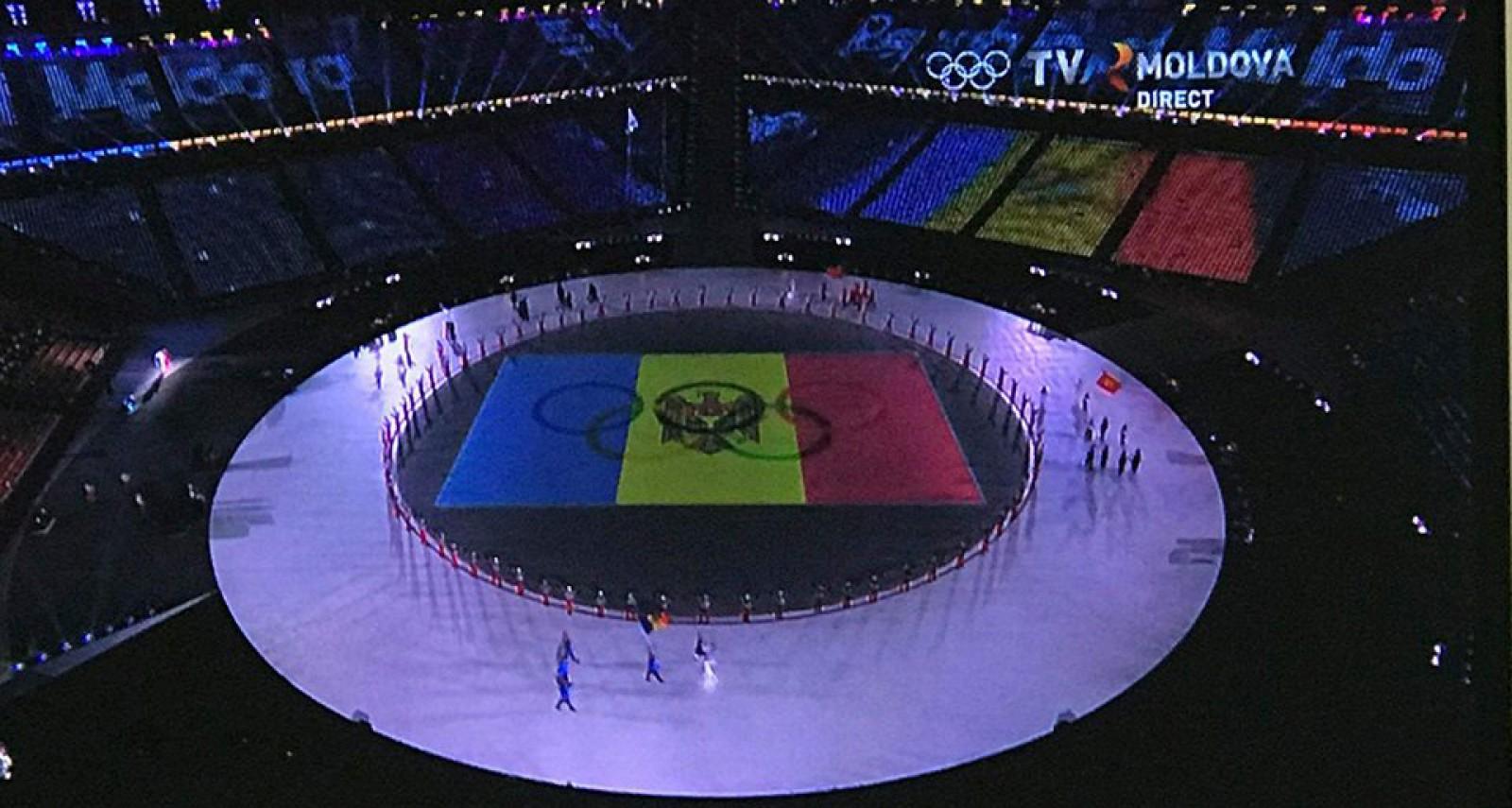 (foto) Delegaţia Republicii Moldova a defilat la ceremonia oficială de inaugurare a Jocurilor Olimpice de Iarnă de la PyeongChang