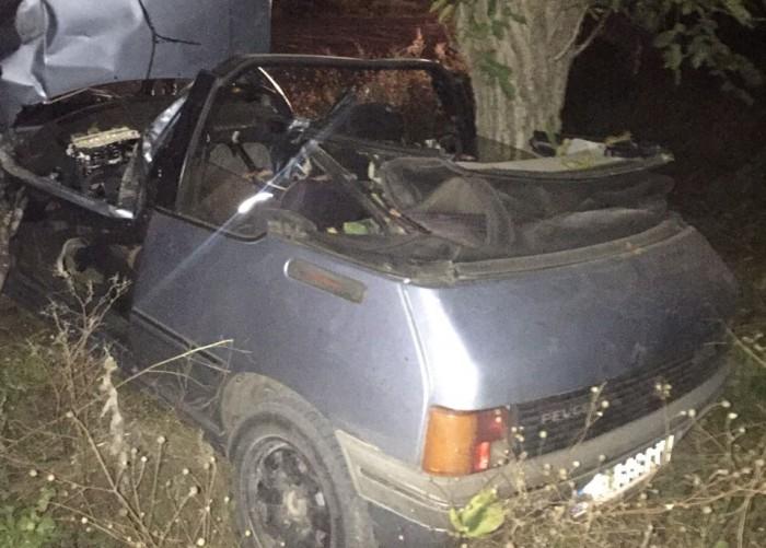 (foto) Impact tragic la Orhei: Doi frați au decedat după ce au intrat cu mașina într-un copac