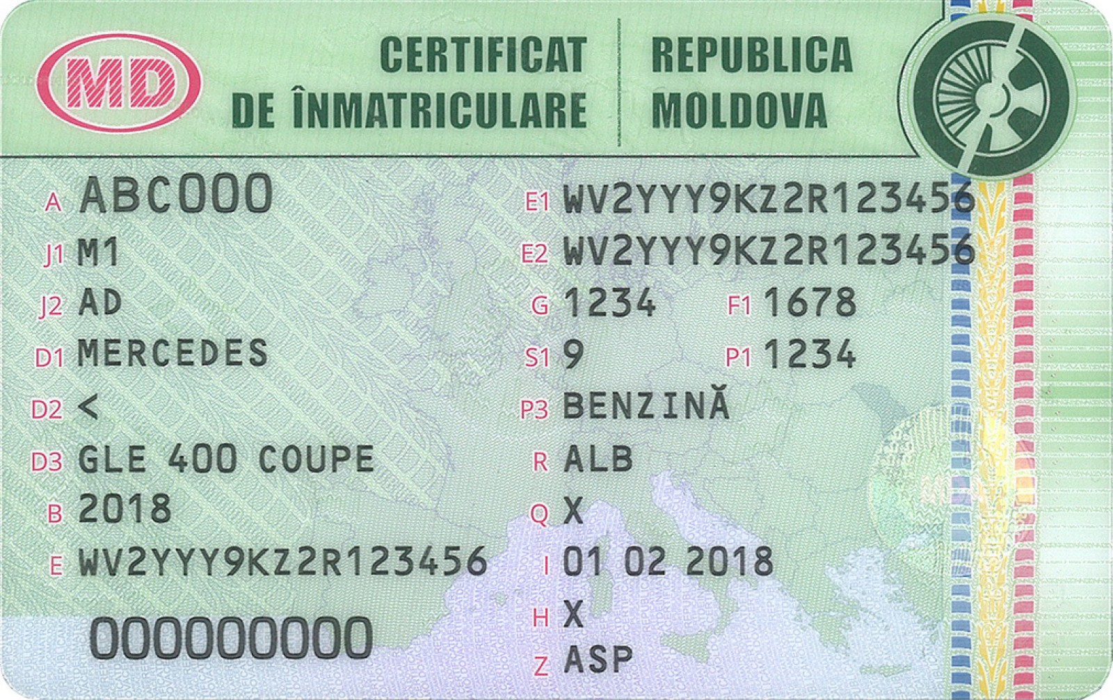 (foto) Moldova: Certificatele de înmatriculare auto de model nou se vor elibera de la 1 martie