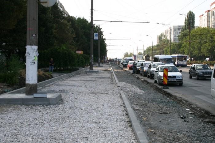 (foto) Municipalitatea nu știe dacă reparația străzii Alecu Russo va fi finisată anul acesta
