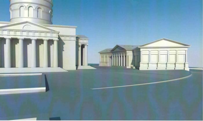 (foto) O nouă construcție în Parcul Catedralei: Palat Mitropolitan sau Casă Parohială?