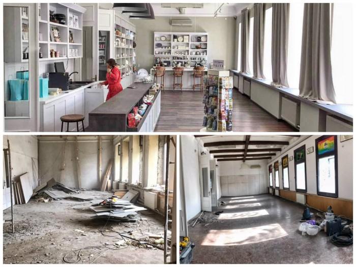 (foto) Transformare spectaculoasă! Cum au reușit câțiva tineri creativi să amenajeze un centru modern într-un etaj complet ruinat