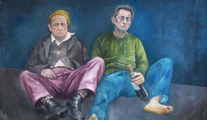 (foto) Un pictor din Siria i-a ilustrat pe liderii lumii în ipostaze a oamenilor străzii
