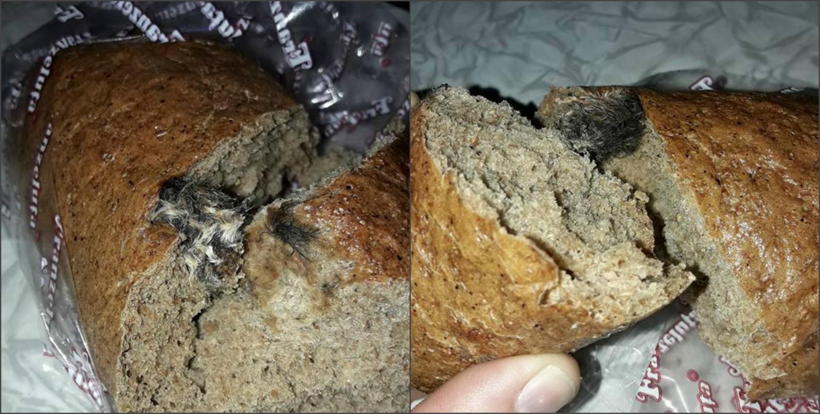 (foto) Un șoarece mort, găsit într-o pâine de la un producător autohton. ANSA s-a autosesizat și a inițiat verificări la întreprinderea de panificație