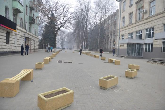 (galerie foto) Lucrările de amenajare a scuarului de pe strada Bulgară din capitală s-au încheiat. Cum arată acesta