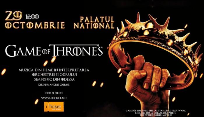 "(video) Game of Thrones - Mega concert de muzică simfonică la Palatul Național ""Nicolae Sulac"""