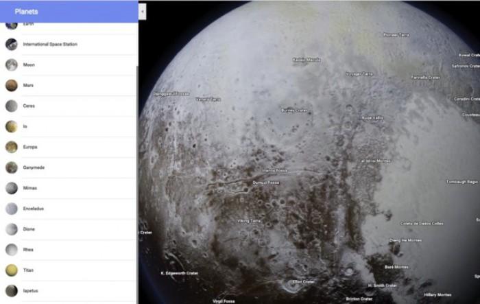Google Maps oferă de acum opţiune pentru navigarea sistemului solar