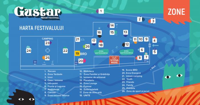 Harta Gustar-ului 2017: Orientează-te pe teritoriul festivalului