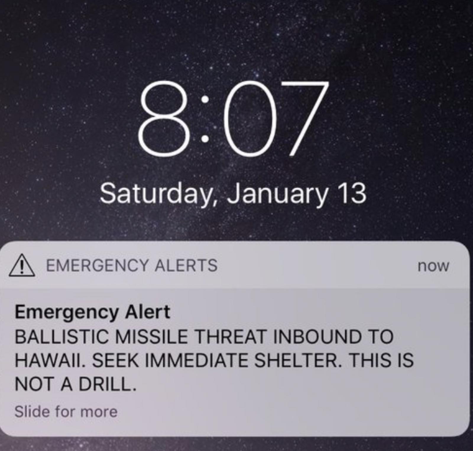 Hawaii: O alertă falsă de atac balistic a produs panică majoră printre localnicii insulei