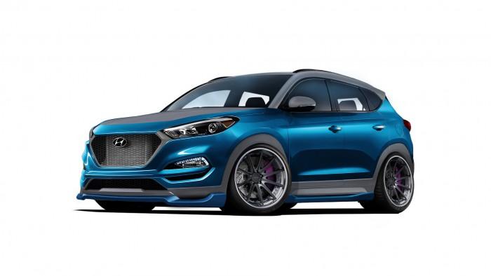 Hyundai şi atelierul de tuning Vaccar vor prezenta la SEMA un Tucson Sport modificat serios