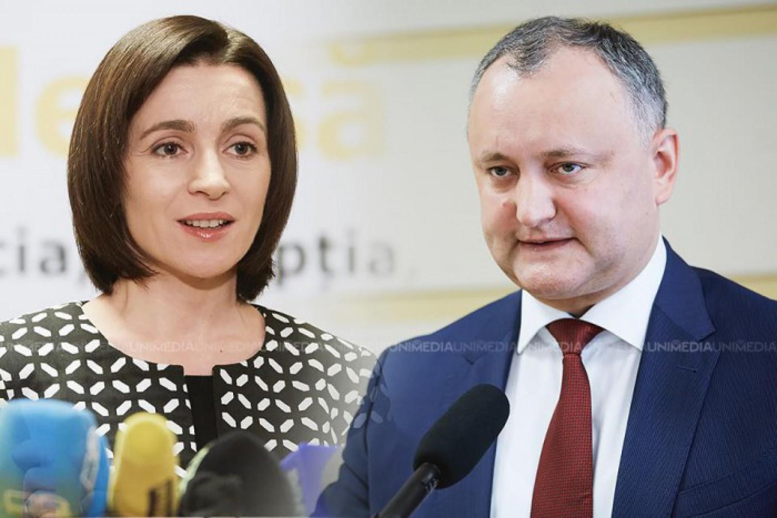 Igor Dodon, Maia Sandu, Pavel Filip și Andrei Năstase, politicienii care se bucură de cea mai mare încredere din partea cetățenilor
